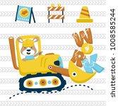 construction equipments cartoon ... | Shutterstock .eps vector #1008585244