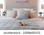 classic bedroom style with set... | Shutterstock . vector #1008600151