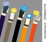 mobile applications with social ... | Shutterstock .eps vector #1008602731