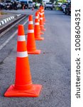 orange traffic cones in the... | Shutterstock . vector #1008604351