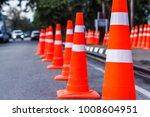 orange traffic cones in the... | Shutterstock . vector #1008604951