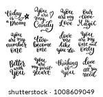 big set of black and white hand ... | Shutterstock .eps vector #1008609049
