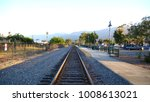 rail road train tracks... | Shutterstock . vector #1008613021