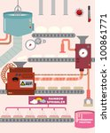 donut factory vector...   Shutterstock .eps vector #100861771