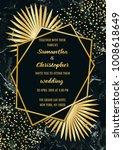 wedding glamorous invitation...   Shutterstock .eps vector #1008618649