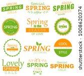 spring typographic design set. | Shutterstock . vector #1008620374