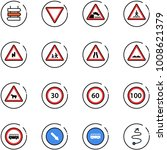 line vector icon set   sign... | Shutterstock .eps vector #1008621379