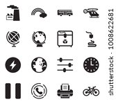 solid black vector icon set  ... | Shutterstock .eps vector #1008622681