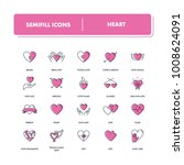 line icons set.  heart pack.... | Shutterstock .eps vector #1008624091