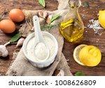 homemade garlic mayonnaise... | Shutterstock . vector #1008626809