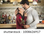 romantic couple looking each... | Shutterstock . vector #1008626917