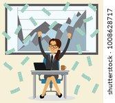 caucasian successful business... | Shutterstock .eps vector #1008628717