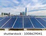 solar and modern city skyline  | Shutterstock . vector #1008629041