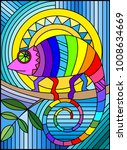 illustration in stained glass... | Shutterstock .eps vector #1008634669