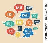 paper speech bubbles with... | Shutterstock .eps vector #1008636289