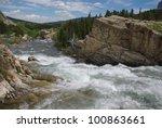 Wild Waters And Rocks  Glacier...