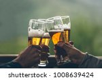beer with foam light tall boys... | Shutterstock . vector #1008639424