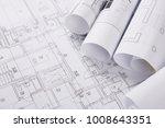 plans of building.... | Shutterstock . vector #1008643351