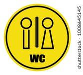 wc toilet icon vector... | Shutterstock .eps vector #1008645145