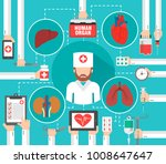 organ transplantation flat... | Shutterstock .eps vector #1008647647