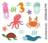 deep ocean fish .cute animal...   Shutterstock .eps vector #1008648799