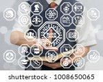 blockchain microchips... | Shutterstock . vector #1008650065