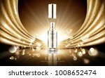 golden cosmetic ads  elegant... | Shutterstock .eps vector #1008652474