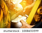give food to the monks. give... | Shutterstock . vector #1008653599