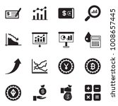 solid black vector icon set  ... | Shutterstock .eps vector #1008657445