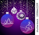 christmas background with balls ... | Shutterstock .eps vector #1008662209