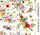seamless floral background... | Shutterstock .eps vector #1008666274