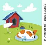 cute jack russell terrier dog... | Shutterstock .eps vector #1008666889