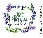 wildflower lavender flower... | Shutterstock . vector #1008670501