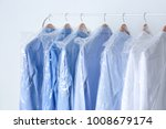 rack with clean shirts in... | Shutterstock . vector #1008679174