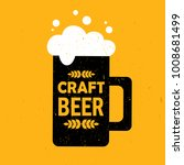 mug with beer and english text  ... | Shutterstock .eps vector #1008681499