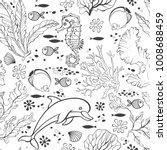 underwater world. seamless... | Shutterstock .eps vector #1008688459