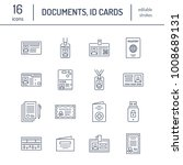 documents  identity vector flat ... | Shutterstock .eps vector #1008689131