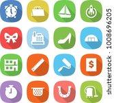 flat vector icon set   alarm... | Shutterstock .eps vector #1008696205