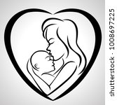 mother and baby icon | Shutterstock .eps vector #1008697225