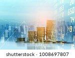 stock market exchange or... | Shutterstock . vector #1008697807