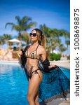 sexy girl in a beautiful... | Shutterstock . vector #1008698875