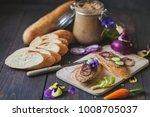 homemade goose paste on bread... | Shutterstock . vector #1008705037