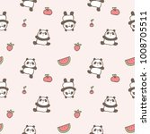 seamless pattern of cute... | Shutterstock .eps vector #1008705511