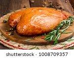 Smoked Chicken Breast Shot In...
