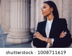 female african american banker... | Shutterstock . vector #1008711619