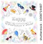 happy carnival. colorful... | Shutterstock .eps vector #1008714487