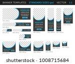 trendy web banners in standard... | Shutterstock .eps vector #1008715684