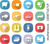 flat vector icon set   delivery ... | Shutterstock .eps vector #1008716719
