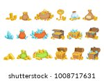 treasure and riches set of game ... | Shutterstock .eps vector #1008717631