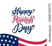 happy presidents' day... | Shutterstock .eps vector #1008719275